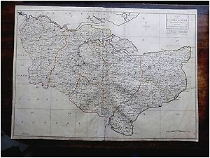 details about 1769 kent andrews dury herbert antique index county map original kitchin london