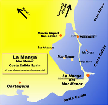 benidorm spain map