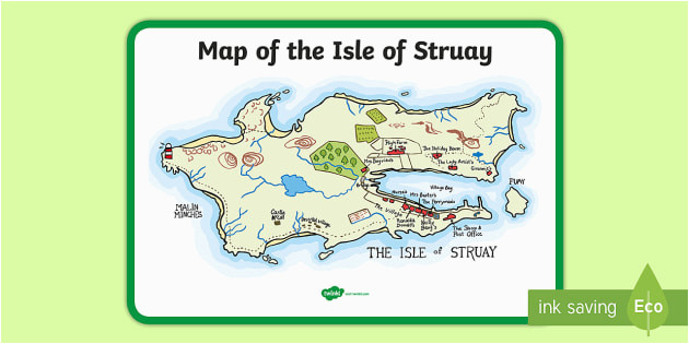 map of the isle of struay large display poster to support teaching