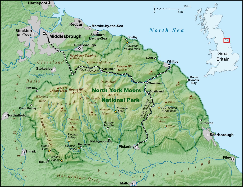 Lancaster England Map north York Moors Wikipedia