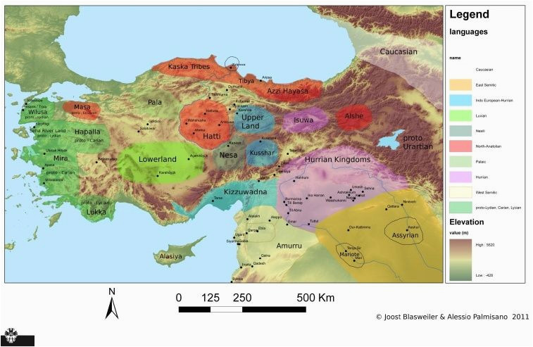 map languages anatolia north syria and upper mesopotamia 1700 bc