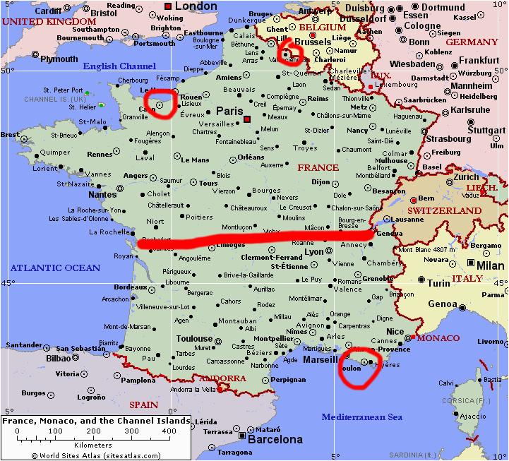 texpertis com map of southern france elegant france
