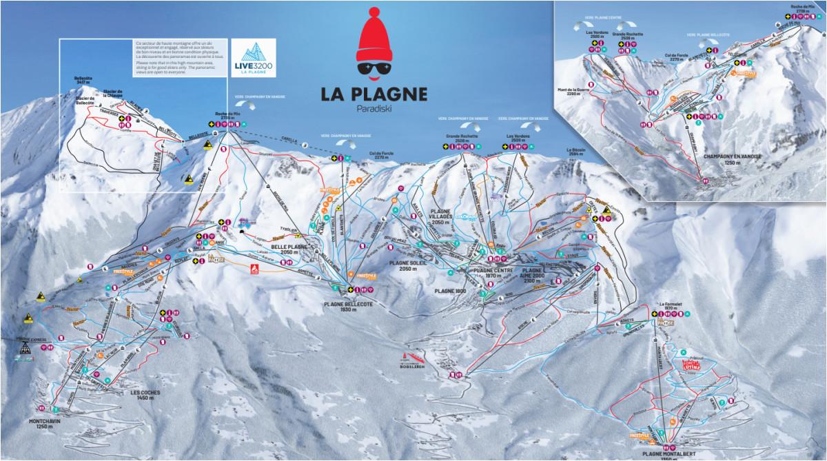 maps piste maps of la plagne france laplagnet com