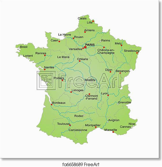 free map of france