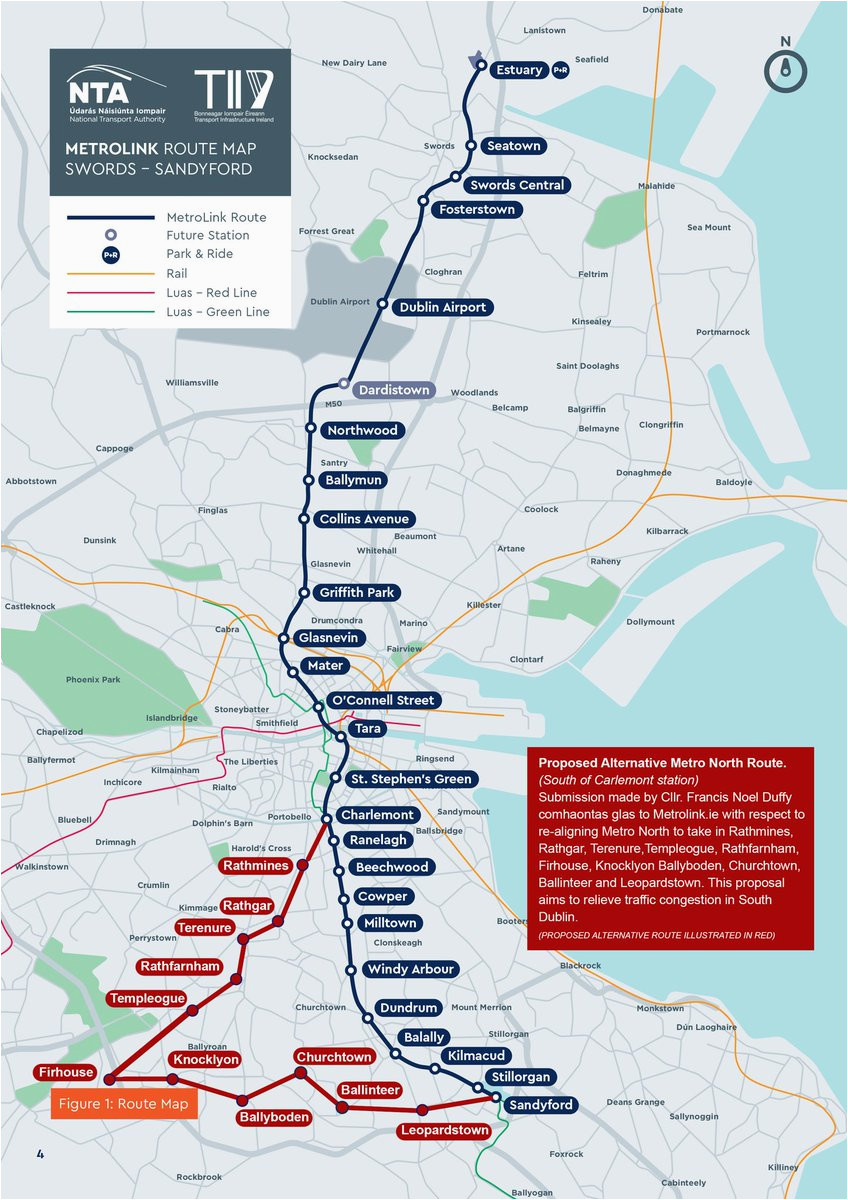 cllr francis n duffy on twitter metro north proposed alternative