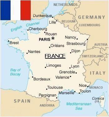 Lyon France On Map Map Of France Paris France Map Metz France France Travel