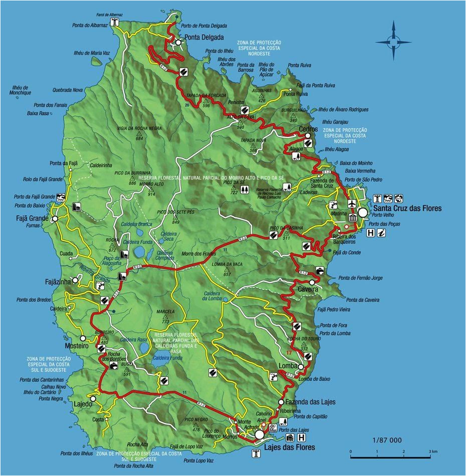 isle of flores the isle of flowers map flores in the