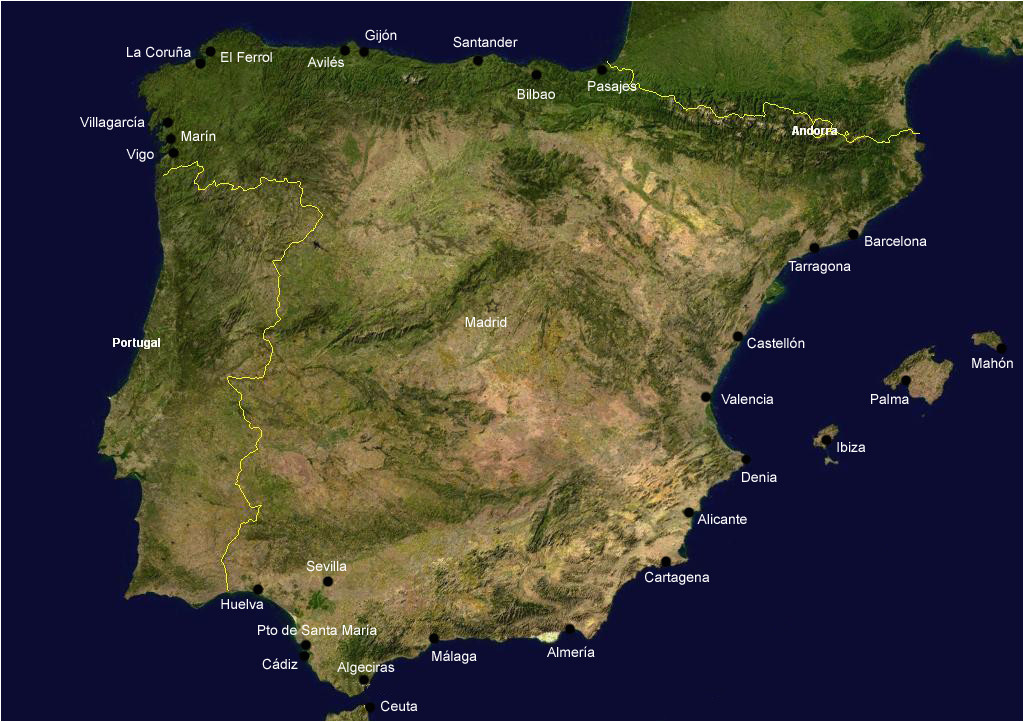 list of ports in spain wikipedia