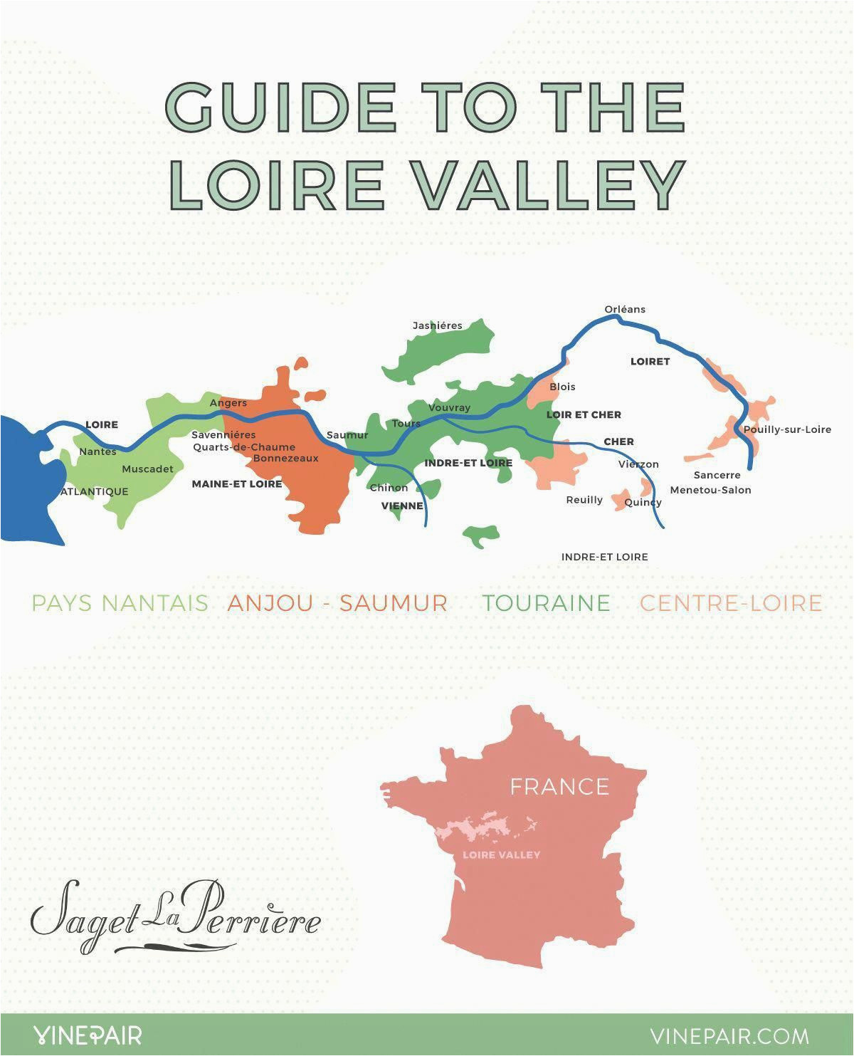 an introduction to the regions of the loire valley map