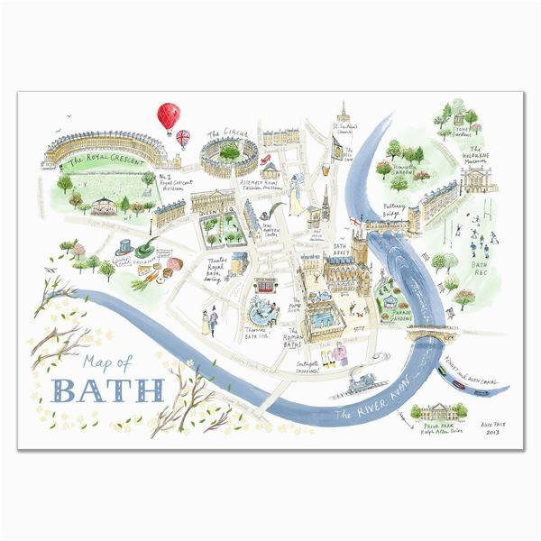 alice tait map of bath print map love in 2019 bath