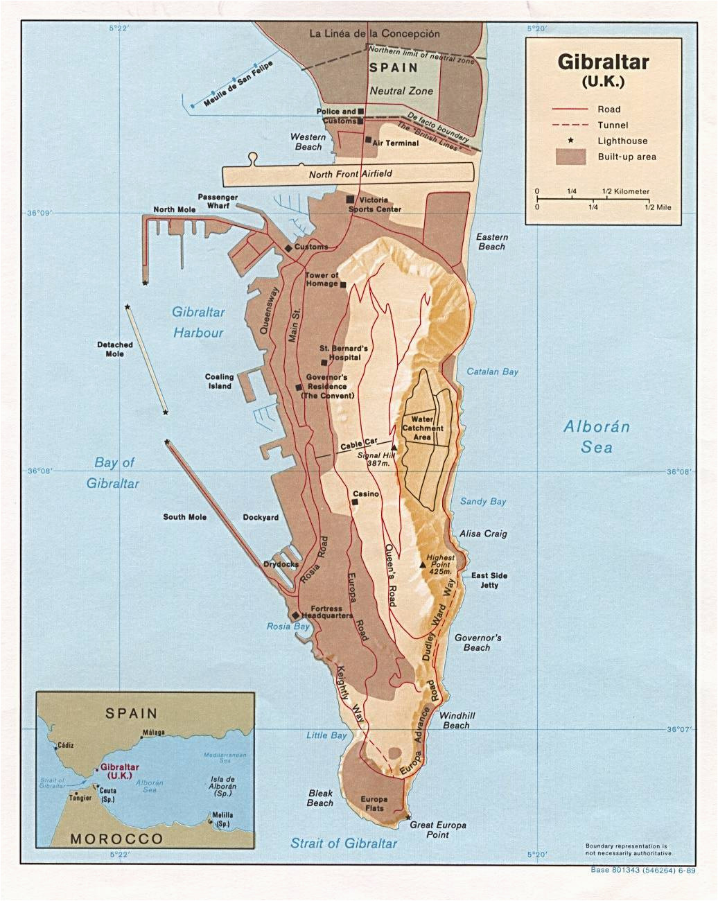 large gibraltar maps for free download and print high resolution