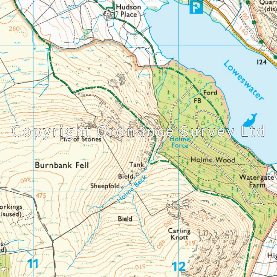 lake district os explorer map ol4 nw keswick cockermouth wigton