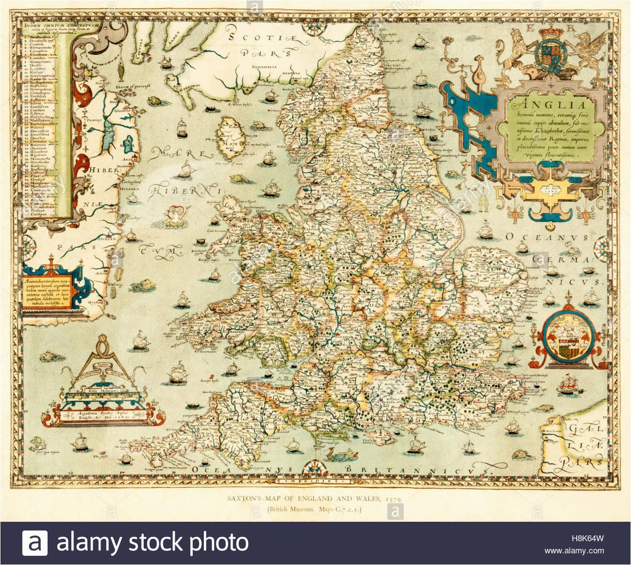 antique map of england stock photos antique map of england