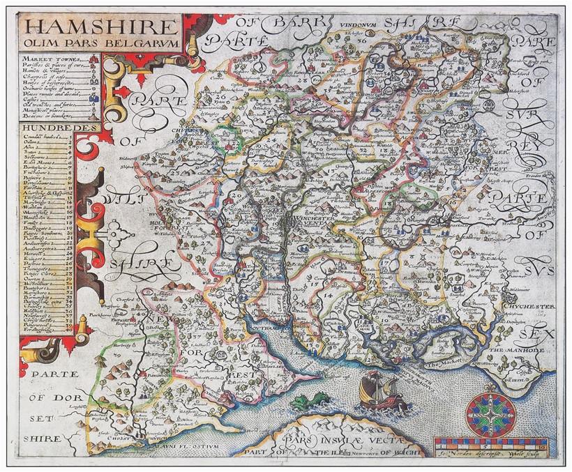 hampshire s maps sea serpents and trains hampshire