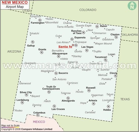 new mexico airports maps and geography new mexico mexico map