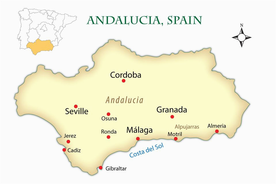 Map Of andalucia Region Of Spain andalusia Spain Cities Map and Guide