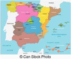 spain political and administrative divisions map spain