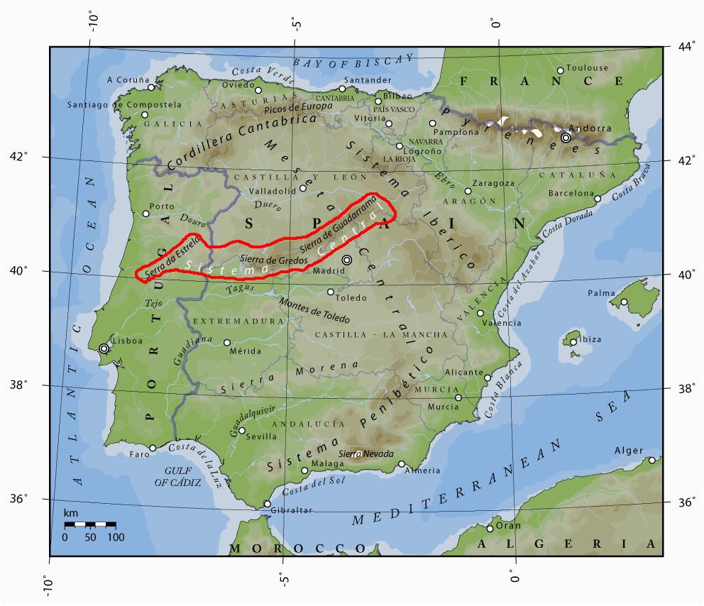 iberisches scheidegebirge wikipedia