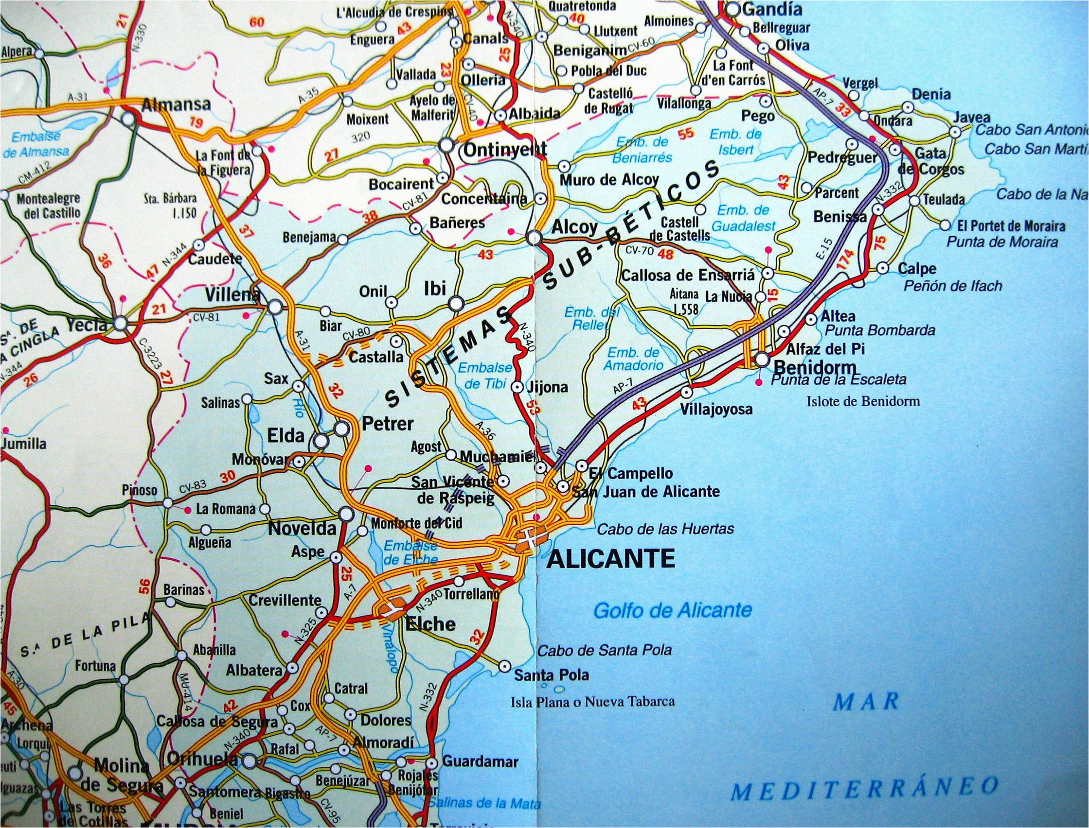 benidorm spain map map of west