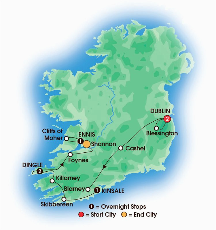 2017 southern gems 7 day 6 night tour overnights 2 dublin