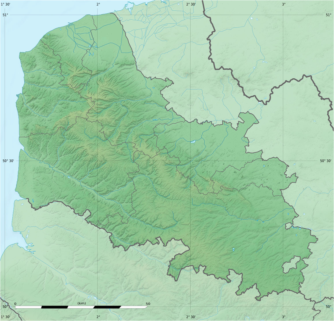 file pas de calais department relief location map jpg