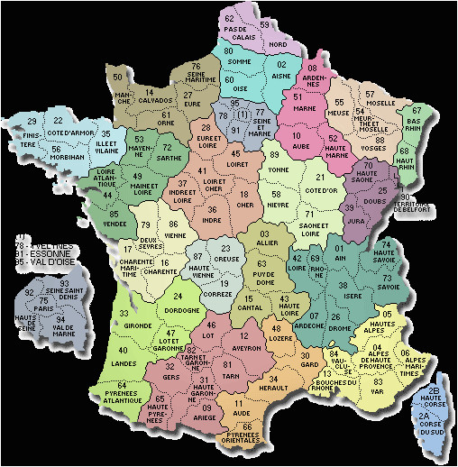 map of france departments france map with departments and