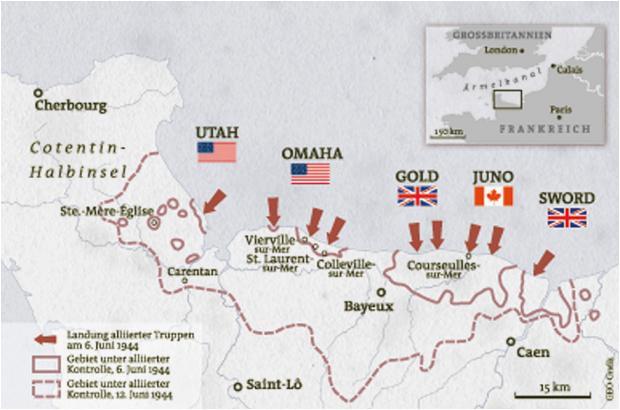 d day invasion in der normandie geo
