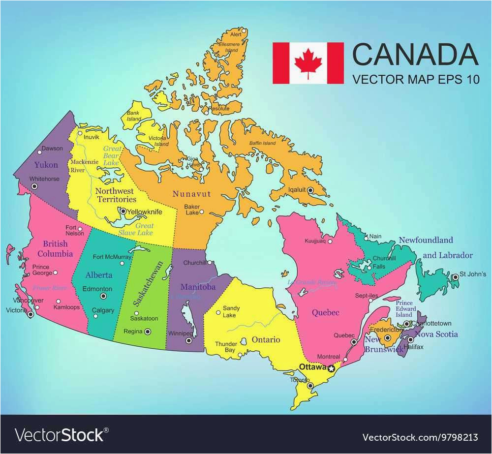 Map Of Canada Rivers and Lakes 21 Canada Regions Map ...