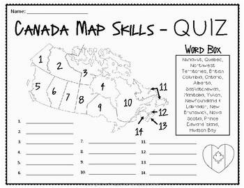 53 rigorous canada map quiz