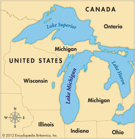 map of michigan and ontario canada image result for map of mi lakes