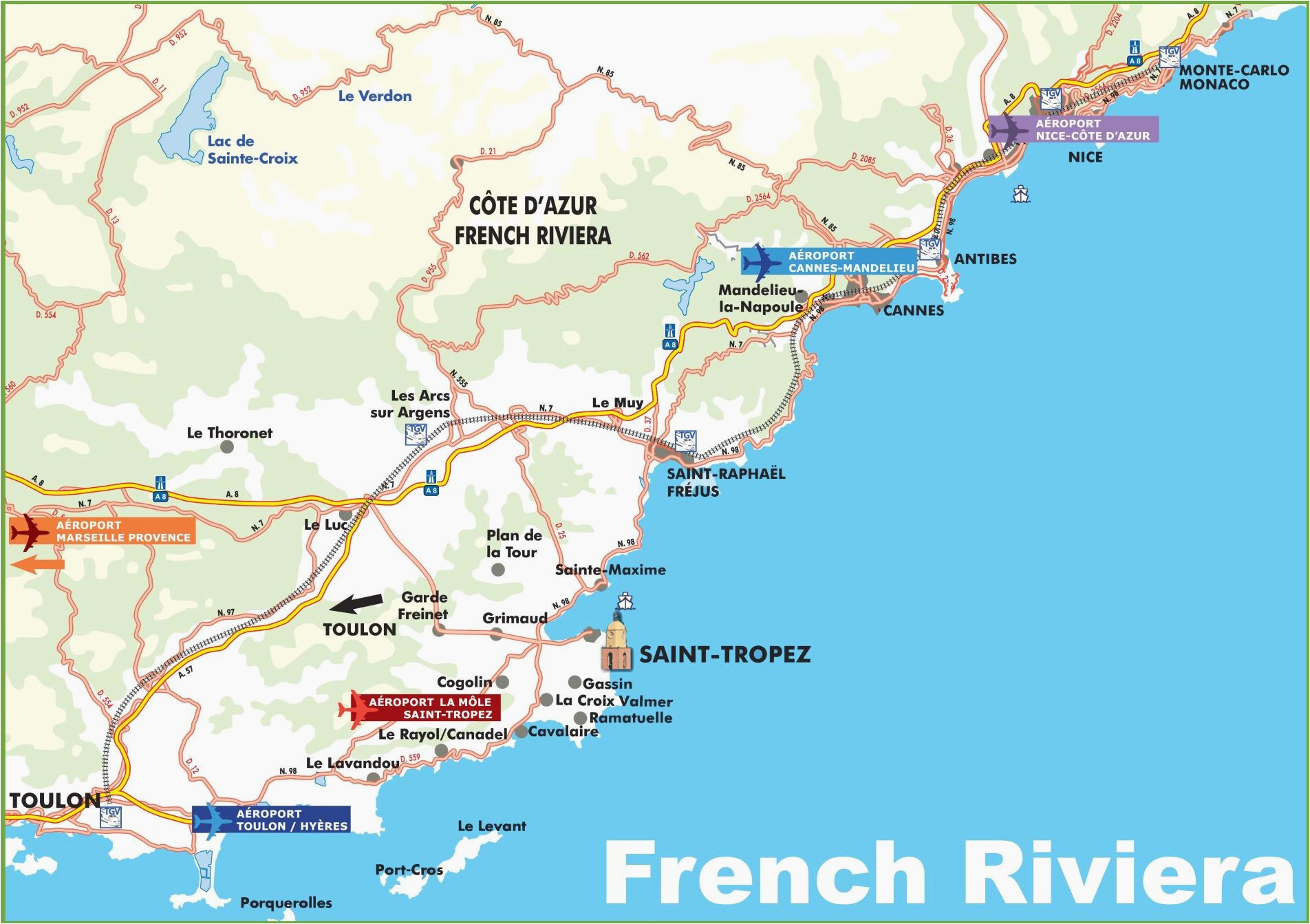 map of nice france and italy french riviera ca te d azur travel