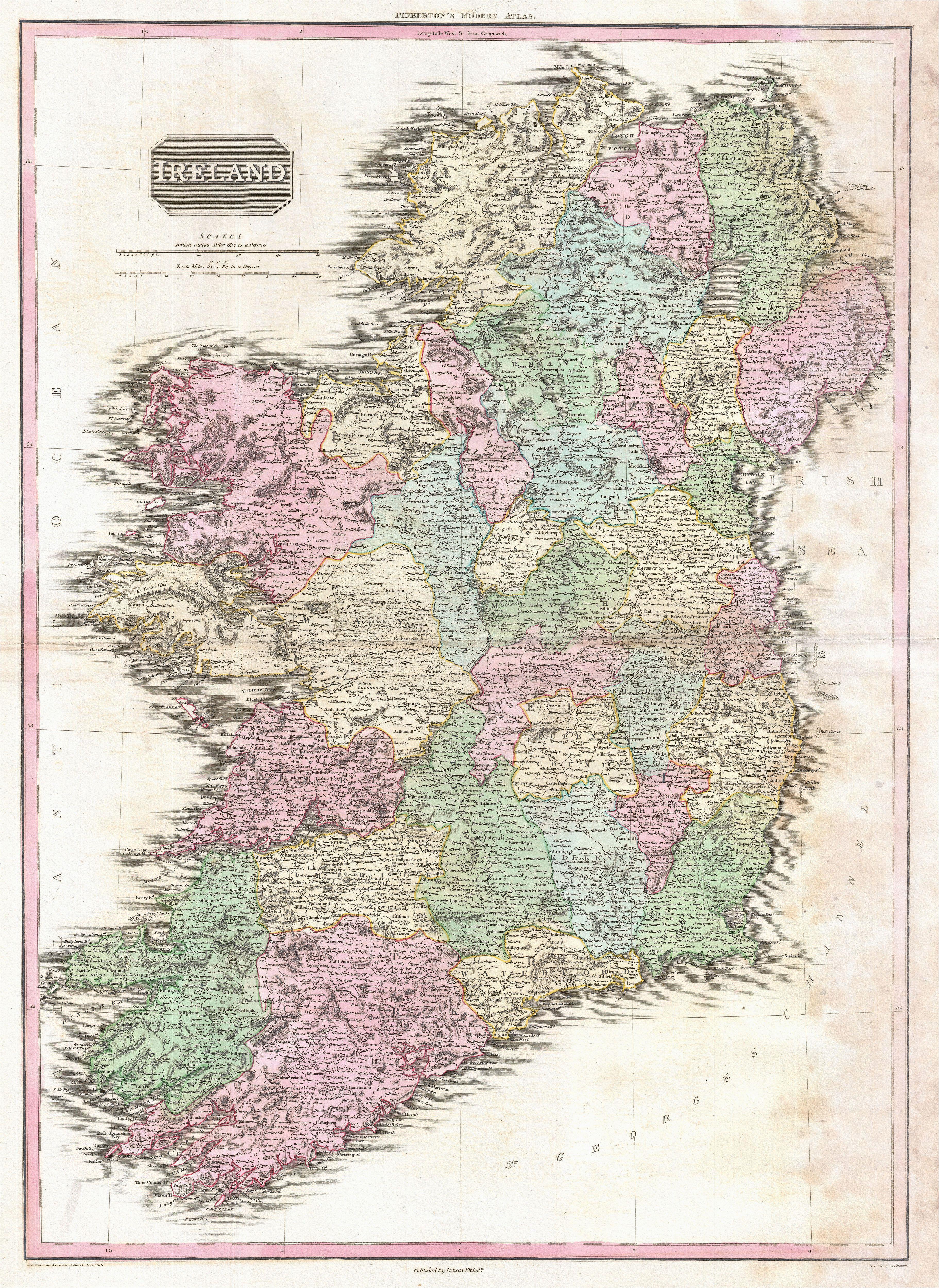 file 1818 pinkerton map of ireland geographicus ireland