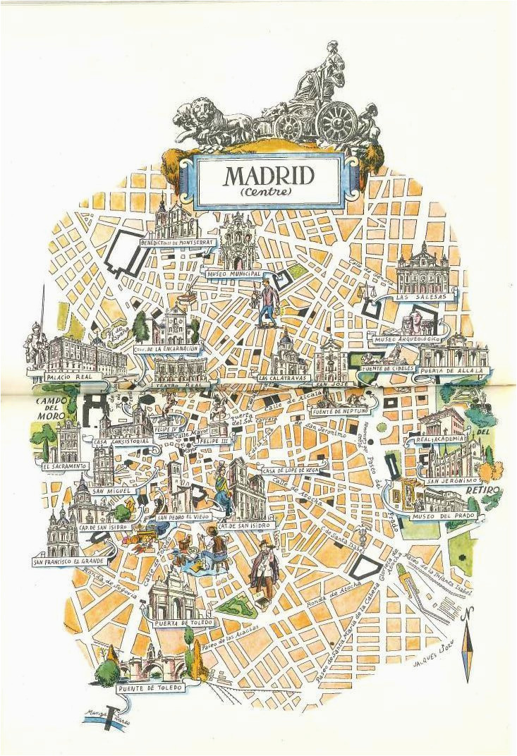 madrid map book illustration city map art by jacques liozu