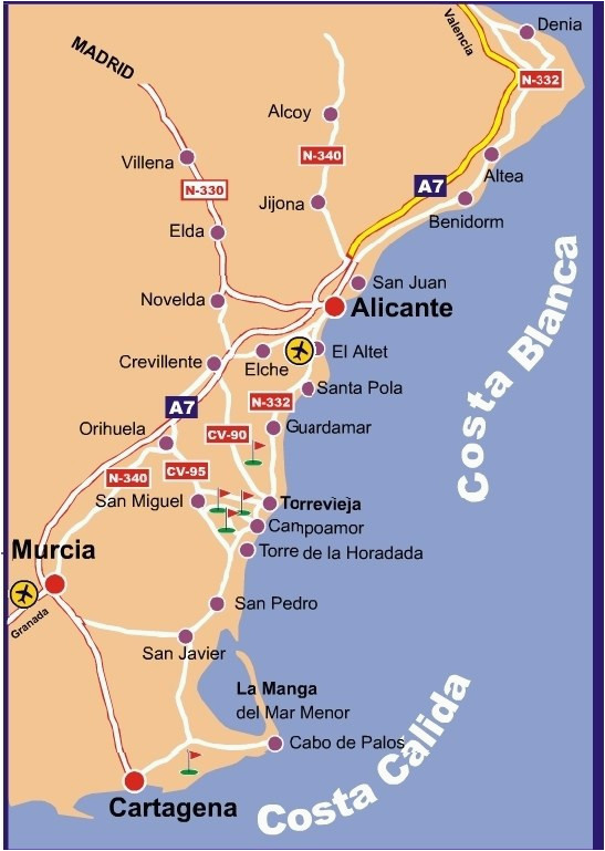 map of east coast spain twitterleesclub