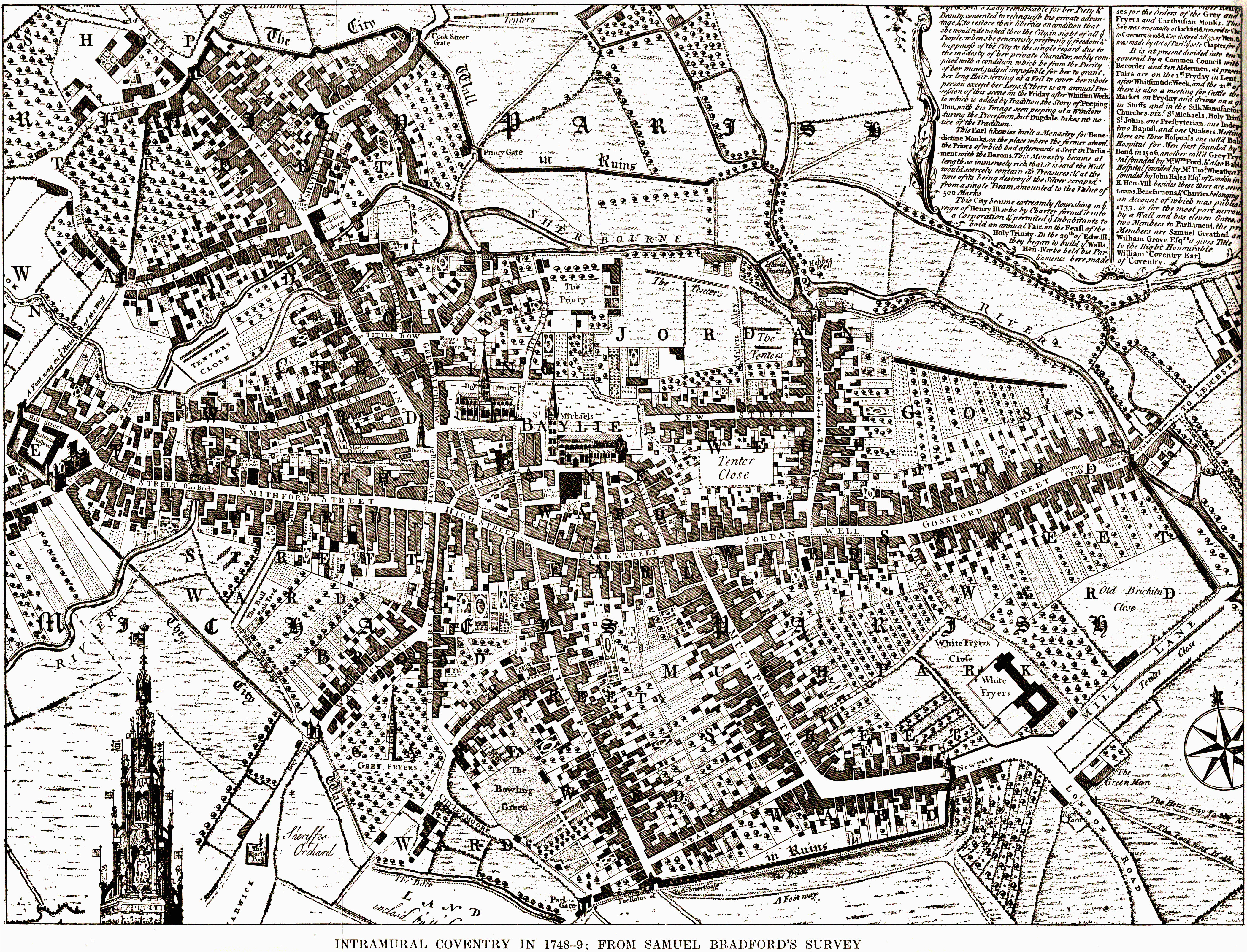 coventry is still medieval in 1749 without any industrial
