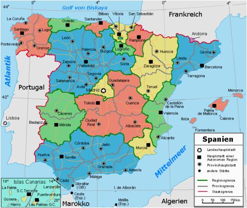 liste der provinzen spaniens wikipedia