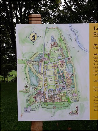 map of the area picture of lowther castle and gardens