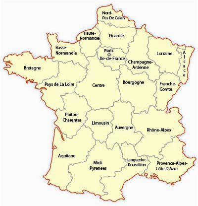 regional map of france europe travel