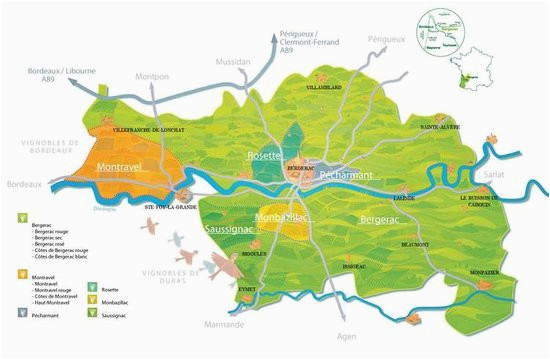 wine map of bergerac region picture of bergerac wine tours