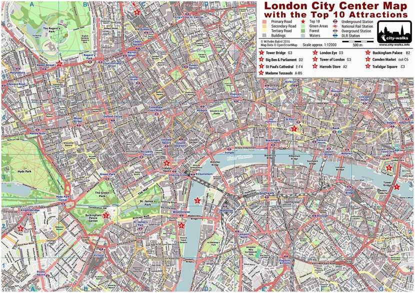 london city center street map free pdf download