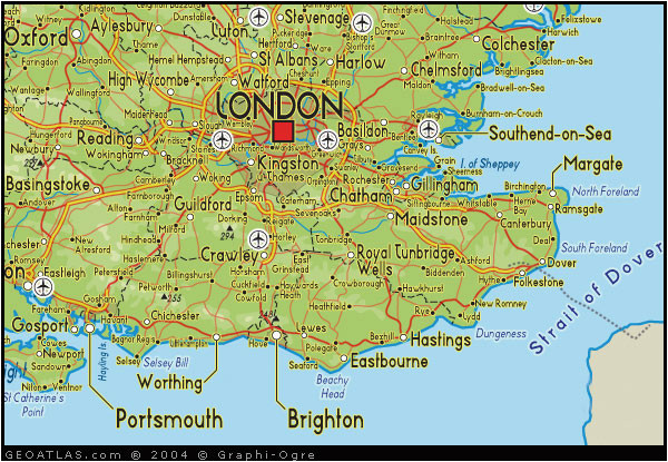 map of south east england map uk atlas