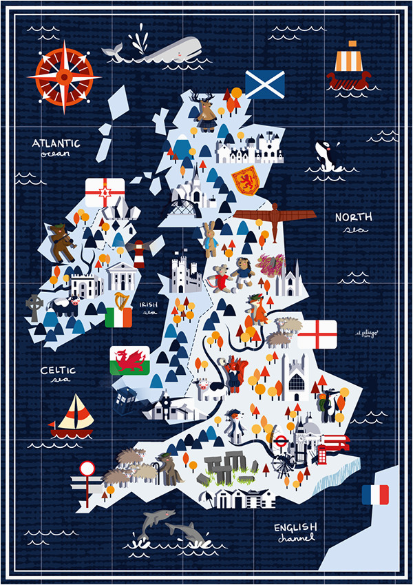 map showing things of interest in the british isles