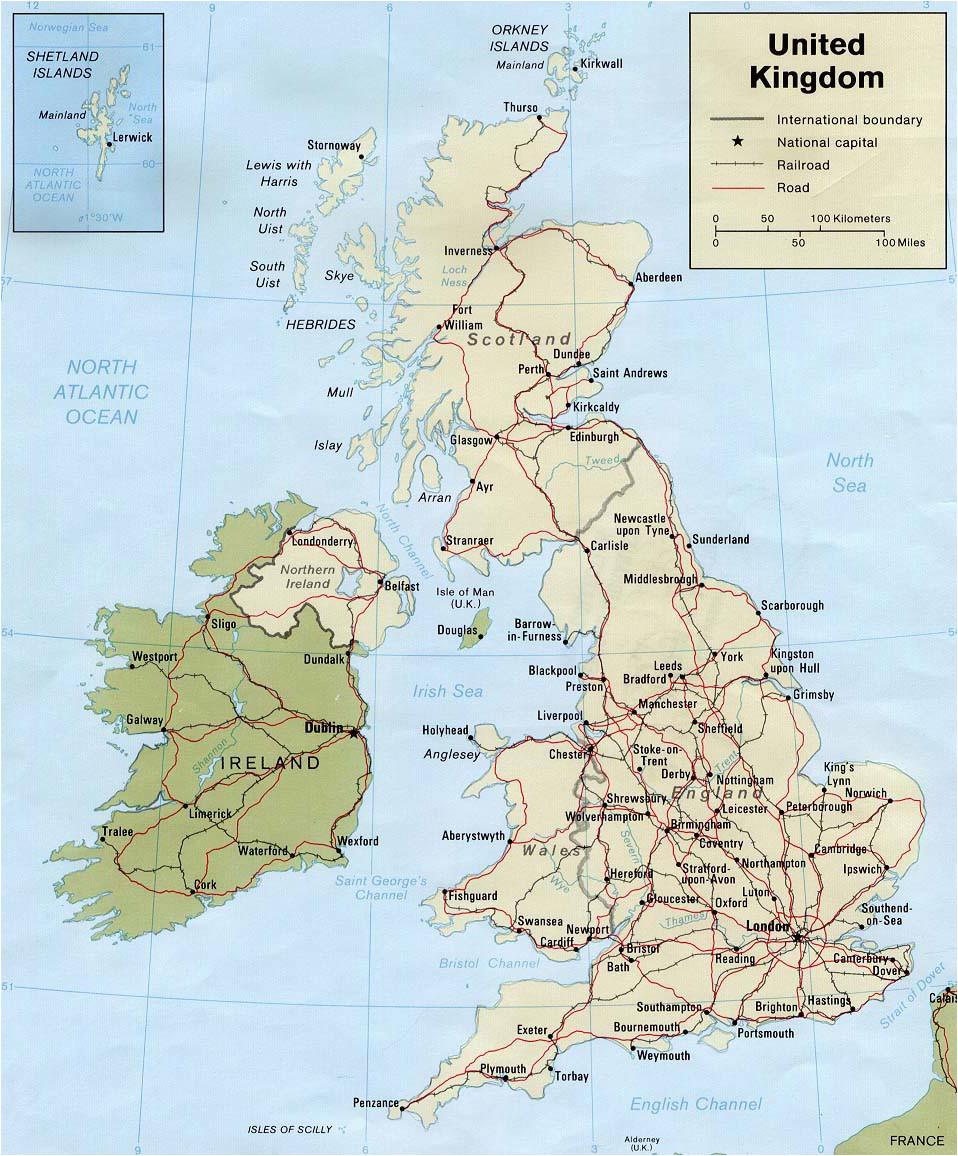map of ireland and uk and travel information download free