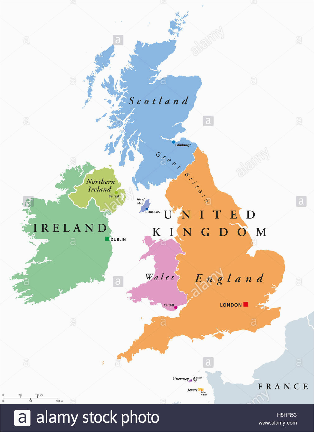 map of uk and northern europe map stock photos map of uk