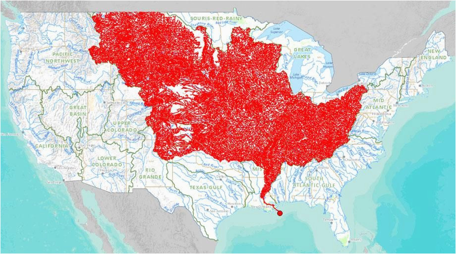 the 7 000 streams that feed the mississippi river mapped 976 2