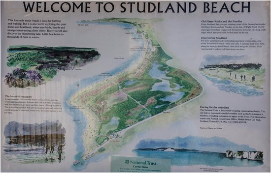 the map picture of studland beach and nature reserve studland bay