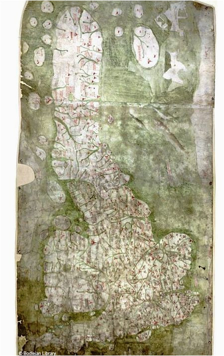 oldest road map of britain is oddly phallic history map