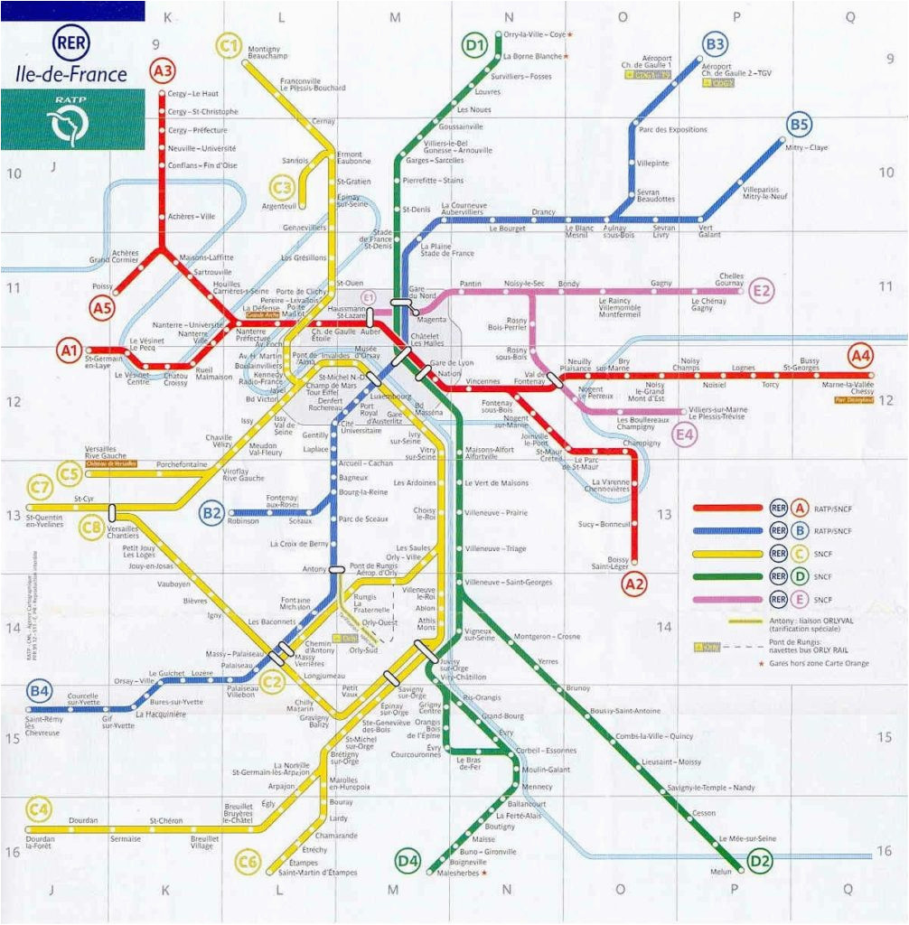paris rer stations map bonjourlafrance helpful planning