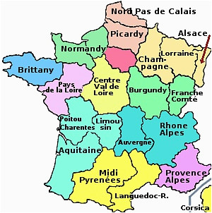 the regions of france
