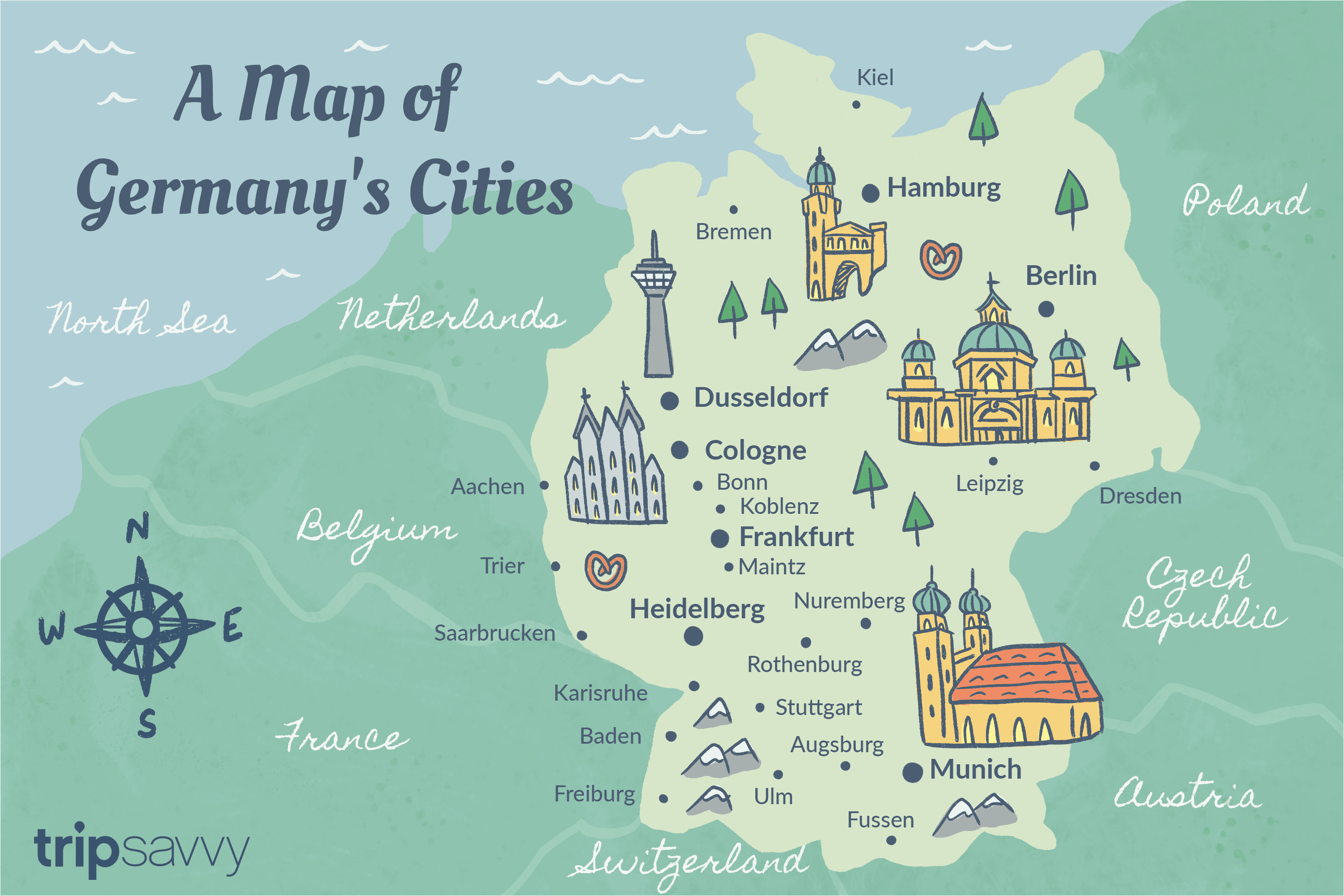 germany cities map and travel guide